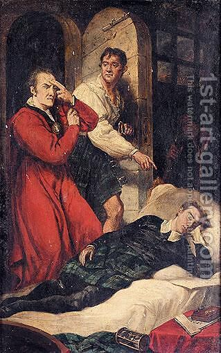 The Death Of The Earl Of Argyll, 1685 by James Northcote, R.A. - Reproduction Oil Painting