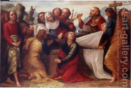 The Apostles Burying The Virgin by Giovanni Francesco Caroto - Reproduction Oil Painting