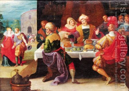 The Feast Of Herod 2 by (after) Frans II Francken - Reproduction Oil Painting