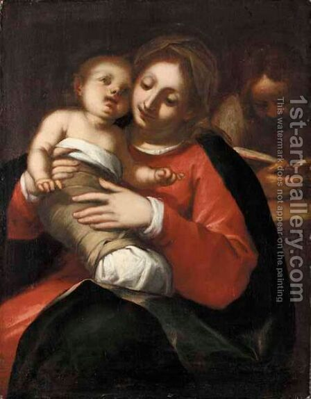 The Holy Family 2 by Giovanni Battista Paggi - Reproduction Oil Painting