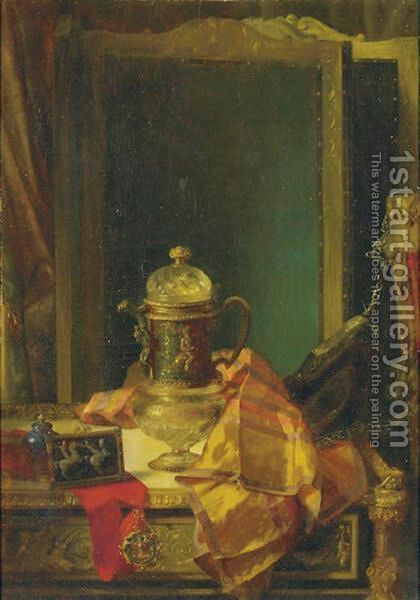 Stll Life With Objects Of Vertu by Blaise Alexandre Desgoffe - Reproduction Oil Painting