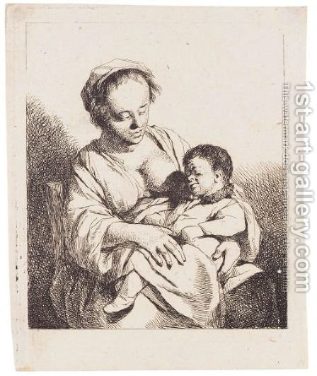 The Mother (Holl.28) by Cornelis (Pietersz.) Bega - Reproduction Oil Painting