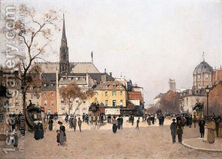 Piazza Di Parigi by Antonino Leto - Reproduction Oil Painting