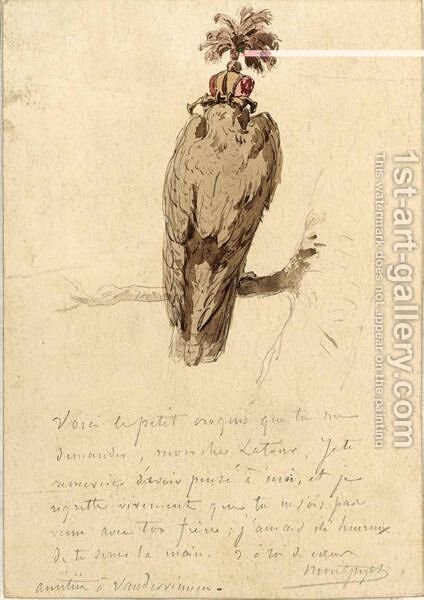 A Peregrine by Henri D'Annecy (Comte De) Montpezat - Reproduction Oil Painting