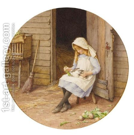 Between School Hours by Charles Edward Wilson - Reproduction Oil Painting