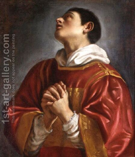 Saint Lawrence by (after) Giovanni Francesco Guercino (BARBIERI) - Reproduction Oil Painting