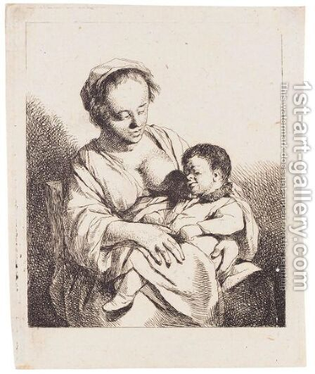 The Mother by Cornelis (Pietersz.) Bega - Reproduction Oil Painting