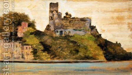 Il Castello Di Lerici by Giovanni Fattori - Reproduction Oil Painting
