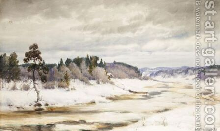 Winter Landscape by Ivan Ivanovich Endogourov - Reproduction Oil Painting