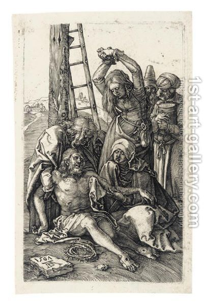 The Lamentation 2 by Albrecht Durer - Reproduction Oil Painting
