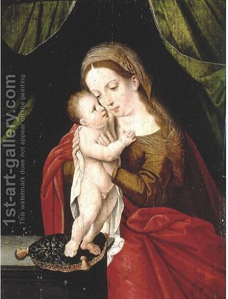 Virgin And Child by (after) Orley, Bernard van - Reproduction Oil Painting