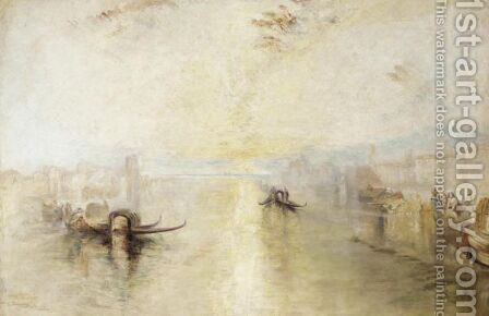 St Benedetto Looking Towards Fusina by (after) Joseph Mallord William Turner - Reproduction Oil Painting