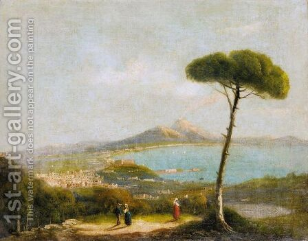 Vedute Di Napoli by Italian School - Reproduction Oil Painting