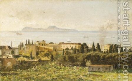 Veduta Di Napoli by Italian School - Reproduction Oil Painting