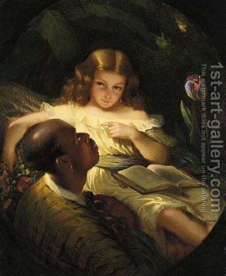 La Lettura by American School - Reproduction Oil Painting