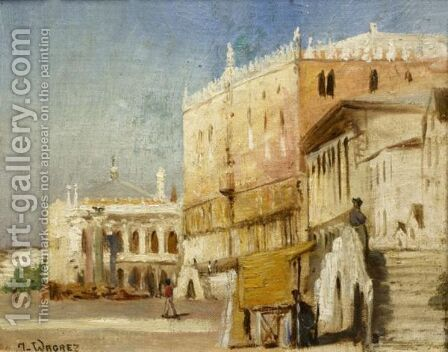 View Of Venice by Jacques-Clement Wagrez - Reproduction Oil Painting