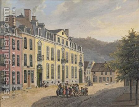 Views Of Spa by Alexandre Doneux - Reproduction Oil Painting