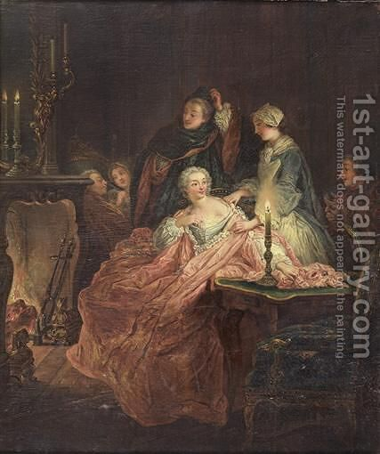 The Return From The Ball by Ecole Francaise, Xixeme Siecle - Reproduction Oil Painting