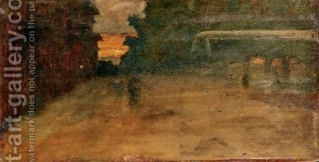 Tramonto All'Ardenza by Giovanni Fattori - Reproduction Oil Painting