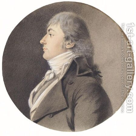 Portrait Of A Man, Head And Shoulders, In Profile To The Left by (after) Isabey, Jean-Baptiste - Reproduction Oil Painting