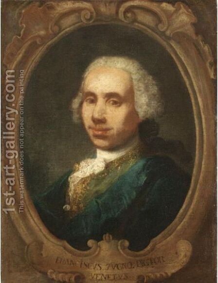 Ritratto Del Pittore Francesco Zugno by Alessandro Longhi - Reproduction Oil Painting