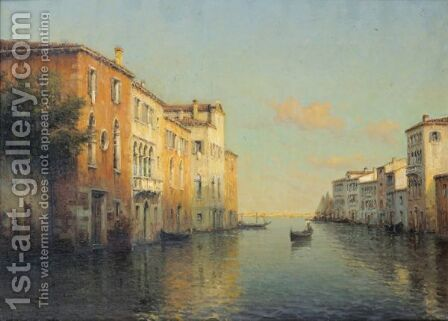The Grand Canal In Venice by Ecole Francaise, Xixeme Siecle - Reproduction Oil Painting