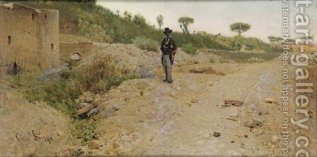 Young Man Walking by Giuseppe Laezza - Reproduction Oil Painting