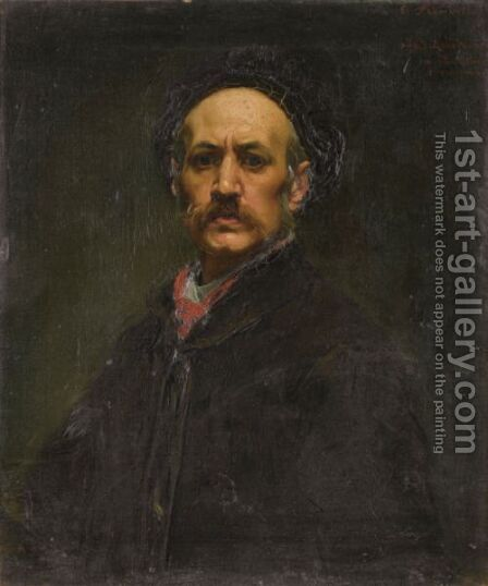 Self Portrait by Alfred Dehodencq - Reproduction Oil Painting