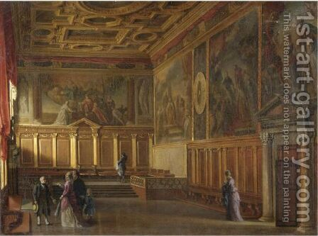 Sala Della Bussola by Giovanni Battista Dalla Libera - Reproduction Oil Painting
