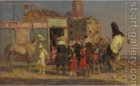 Circo Equestre by Beppe Ciardi - Reproduction Oil Painting