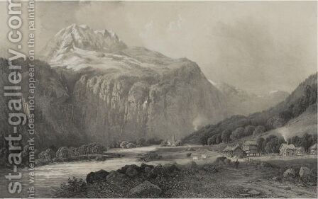 Views In Norway From Original Pictures 1854 by James Randell - Reproduction Oil Painting