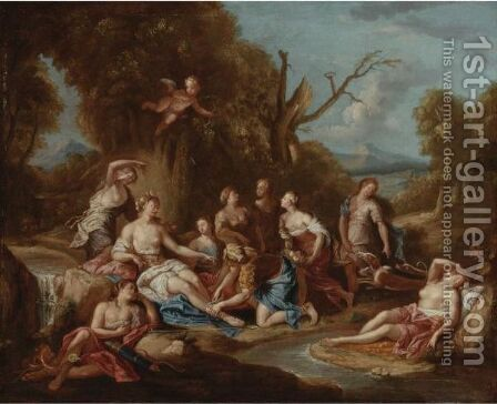 Diana And Her Nymphs Bathing by (after) Charles De Lafosse - Reproduction Oil Painting