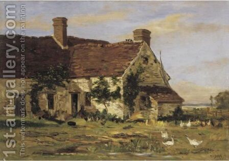 The Artist's Summer Home by Hippolyte Camille Delpy - Reproduction Oil Painting