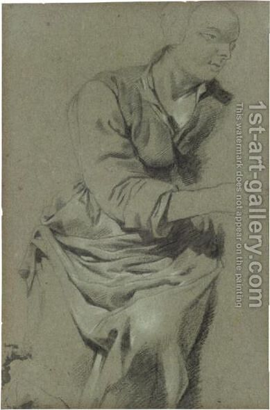 Study Of A Seated Woman by (after) Leendert Van Der Cooghen - Reproduction Oil Painting