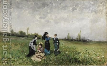 Pomeriggio Di Sole In Campagna by Carlo Pittara - Reproduction Oil Painting
