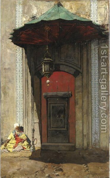 Portale Arabo by Alberto Pasini - Reproduction Oil Painting
