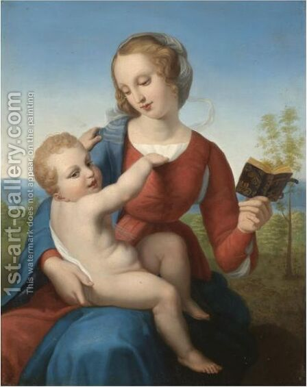The 'Colonna Madonna' by (after) Raphael (Raffaello Sanzio of Urbino) - Reproduction Oil Painting