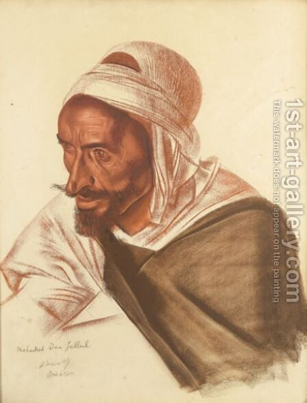 Portrait De Mohamed Ben Jellul by Alexander Evgenevich Iacovleff - Reproduction Oil Painting