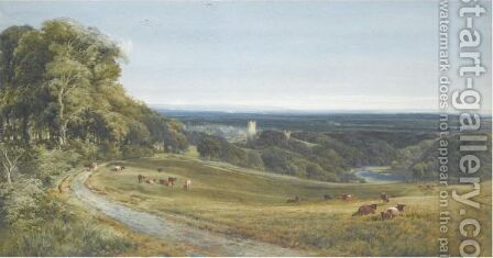 View Of Richmond, Yorkshire by Bernard Walter Evans - Reproduction Oil Painting