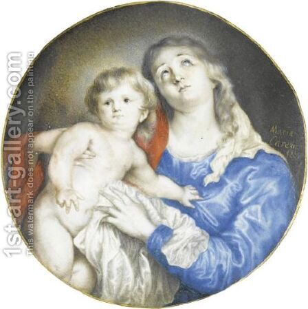Madonna And Child by Anna Maria Carew - Reproduction Oil Painting