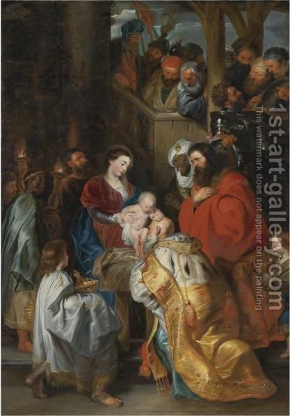 Adoration Of The Magi by (after) Sir Peter Paul Rubens - Reproduction Oil Painting