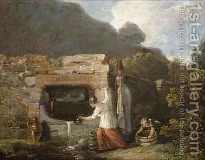 Well Scene by Edward Bird - Reproduction Oil Painting