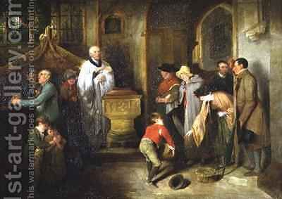 The Christening by Edward Bird - Reproduction Oil Painting