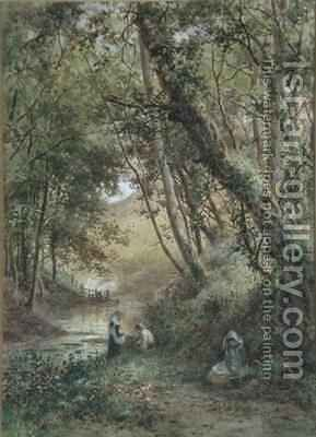 By the Stream by James George Bingley - Reproduction Oil Painting