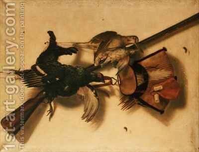 Trompe l'Oeil of Dead Game by Jacobus Biltius - Reproduction Oil Painting