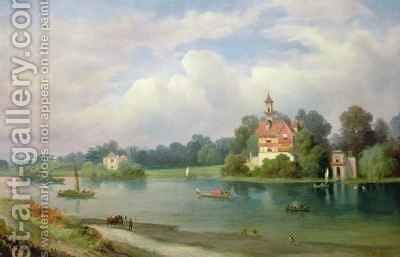 A View of Pope's House and Radnor House at Twickenham by Alexandre le Bihan - Reproduction Oil Painting