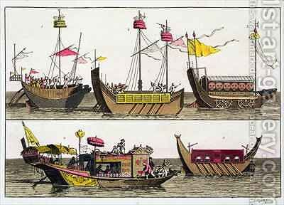 Examples of Chinese ships by Giovanni Bigatti - Reproduction Oil Painting