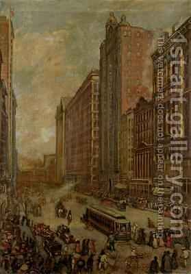 State Street, Chicago by Harold Harrington Betts - Reproduction Oil Painting