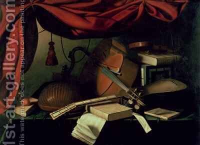 Musical Still Life by Bartolomeo Bettera - Reproduction Oil Painting