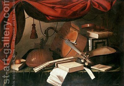 Musical Still Life 2 by Bartolomeo Bettera - Reproduction Oil Painting